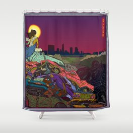 Life of Buddha - 5. Asceticism Shower Curtain