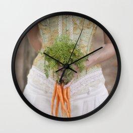 Carrot Madness Wall Clock