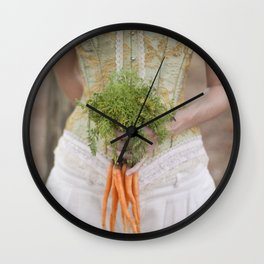 Carrot Madness Wall Clock