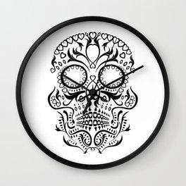 Day of the Dead Skull - Hearts Wall Clock