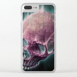 Glow Skull Clear iPhone Case