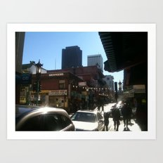 moment in time chinatown Art Print
