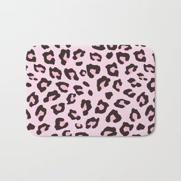 Leopard Print - Pink Chocolate Bath Mat