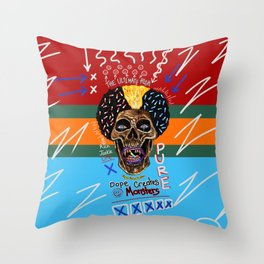 Dope Creates Monsters Ultimate Throw Pillow
