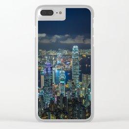 HONG KONG 32 Clear iPhone Case