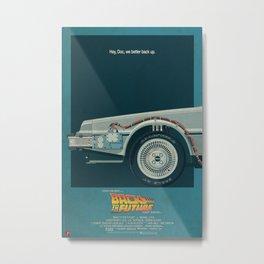 DeLorean Time Machine, Back to the Future Version 2 I/III Metal Print