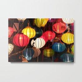 Colourful Lanterns of Hoi An, Vietnam Metal Print