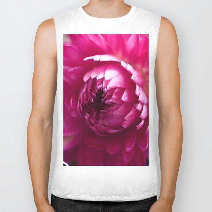 Hot Pink Flower #1 #art #society6 Biker Tank