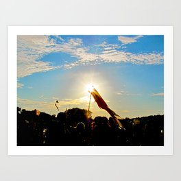 Sunlit Festivals  Art Print