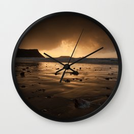 Storm clouds at Worms Head Wall Clock