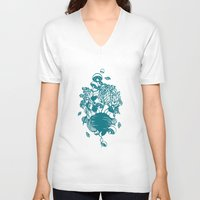 vegetables V-neck T-shirts featuring Vegetables  by Sarah Dennis