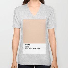 pantone, nude, CMYK colorblock Unisex V-Neck