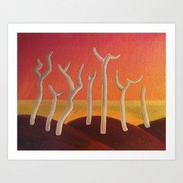 7 Trees Art Print