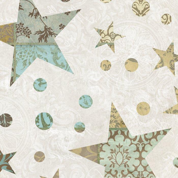 Patchwork Stars Pattern Leggings