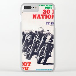 Vintage TT Race Poster Clear iPhone Case