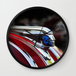 Retro Pontiac hood ornament from the Goodguy's Auto show Wall Clock