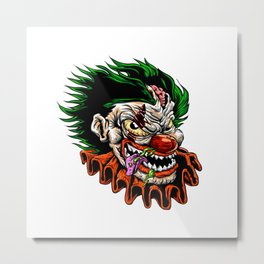 zombie evil clown Metal Print