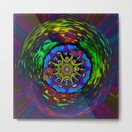 Mandala Cluster Metal Print