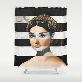 Raphael's La Fornarina & Audrey Hepburn Shower Curtain