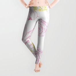 Abstract Flowers #society6 #buyart Leggings