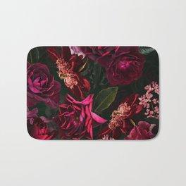 Vintage & Shabby Chic - Night Botanical Flower Roses Garden Bath Mat
