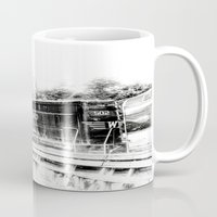train Mugs featuring Train by Geni