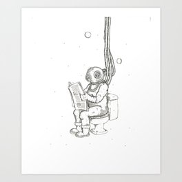 Diver Poop Art Print