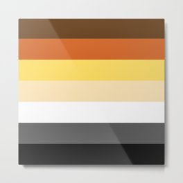 Bear Flag Metal Print