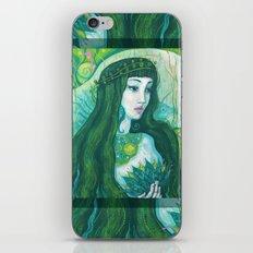The Mermaid, acrylic painting, fantasy art iPhone & iPod Skin