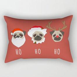 Ho Ho Ho Pugs Rectangular Pillow