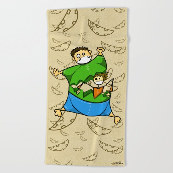 Happy Easter Beach Towel
