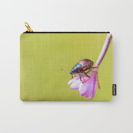 Orange on Pink Carry-All Pouch