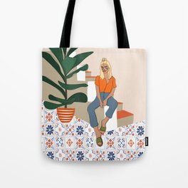 Terracotta Patchwork Tote Bag