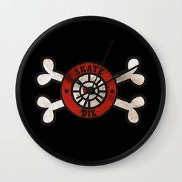 Skate or Die Bones Roller Derby Artwork Wall Clock