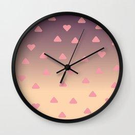 heart pattern Wall Clock