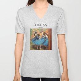 Degas - Blue Dancers Unisex V-Neck