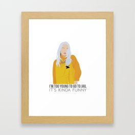Billie Eilish - Bellyache Framed Art Print