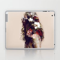 The girl with the flowers in her hair Laptop & iPad Skin