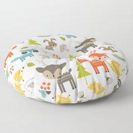 Woodland Animals Floor Pillow