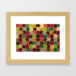 Autumn Colored Jigsaw Puzzle Framed Art Print