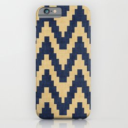 Twine in Blue and Gold iPhone Case