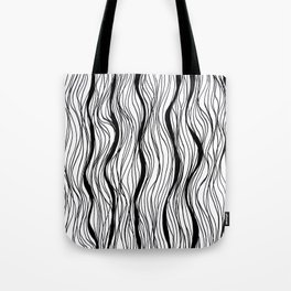BLACK STRIPES Tote Bag