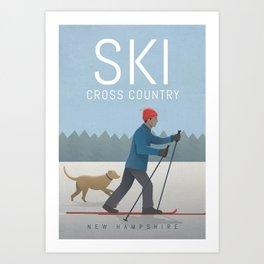 Ski Cross Country Art Print