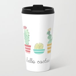 Hello Cactus Metal Travel Mug