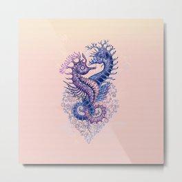 Seahorse tattoo Metal Print