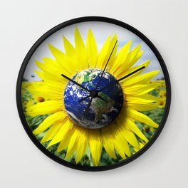Earth Flower Wall Clock