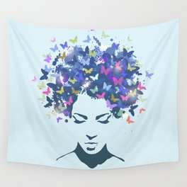 Woman Butterfly Wall Tapestry