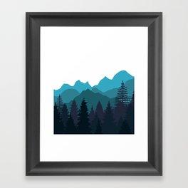 Blue Woods Framed Art Print