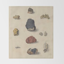 Vintage Minerals Throw Blanket