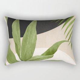 Abstract Art Tropical Leaf 11 Rectangular Pillow